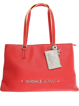 fb8ccda6e7b Versace Tote Bag On Sale, Red, Nappa Leather, 2017, one size