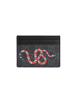 6babce376c7 Gucci Kingsnake print GG Supreme card case - Black