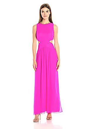 Nicole Miller Womens Queen of The Night Dress, Neon Pink 8