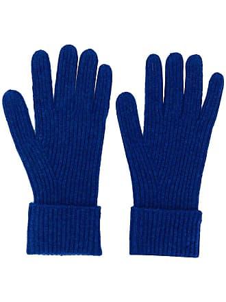 N.Peal Par de luvas de tricô caneladas - Azul