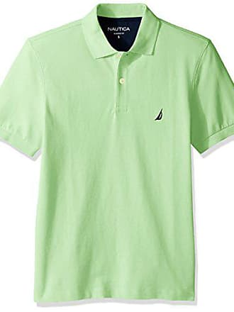 4faedad2f28 Nautica Mens Short Sleeve Solid Cotton Pique Polo Shirt, Patina Green,  X-Large