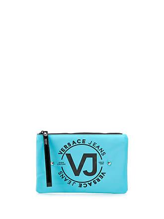 Versace Jeans Couture Necessaire com tachas e logo - Azul