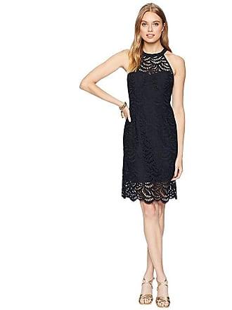 b5e8f0ea0caa29 Lilly Pulitzer Kenna Halter Dress (Onyx Scalloped Fan Lace) Womens Dress