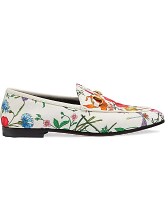 dfcf824a170 Gucci Jordaan floral print loafers - White