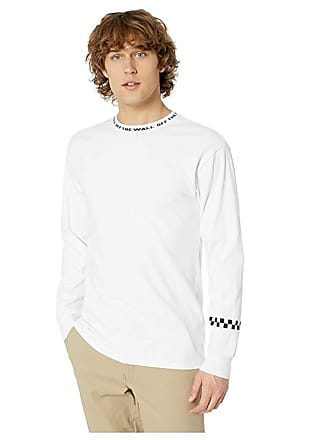 c68265d500 Vans Off the Wall Jacquard Long Sleeve T-Shirt (White) Mens T Shirt