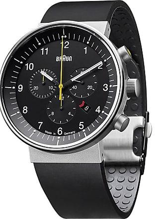 Braun BN0095 Black Prestige Analog Mens Watch | Rubber