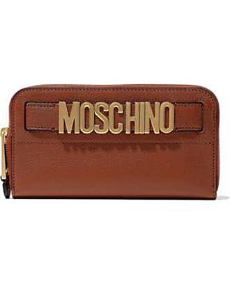Moschino Moschino Woman Embellished Textured-leather Continental Wallet Crimson Size