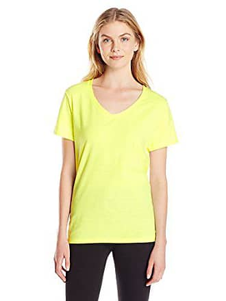 013e413c7 Hanes Womens X-Temp V-Neck Tee, Neon Lemon Heather, X-