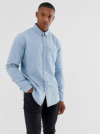 New Look regular fit denim shirt in blue wash - Blue