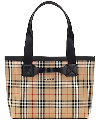 Burberry Check Medium canvas shopper