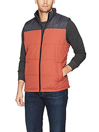 ZeroXposur Mens Block-Quilted Puffer Vest, Rust, Small