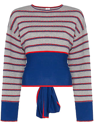 Rosie Assoulin Suéter Ottoman de lã com vazados - Cinza
