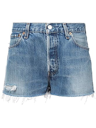 Re/Done faded shorts - Azul