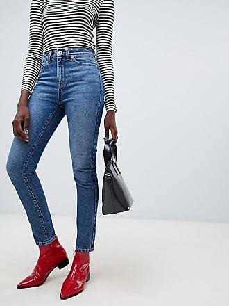Vero Moda Aware High Waist Straight Leg Jeans in blue - Blue