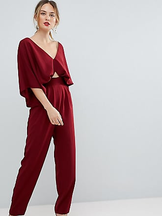 fc8b2570ea06a Asos Tall ASOS DESIGN Tall Jumpsuit with Kimono Sleeve and Peg Leg