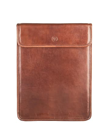 Maxwell Scott Maxwell Scott - Luxury Tan Leather Shirt Case (Sepino)