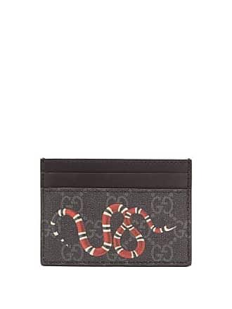 a09c8c2c4b58 Gucci Kingsnake Print Gg Canvas Cardholder - Mens - Black Multi