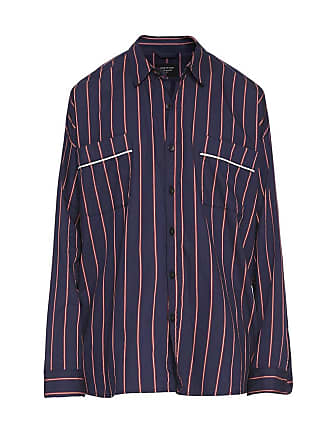 Fear of God Blue Mens Piped Oversized Shirt - The Webster