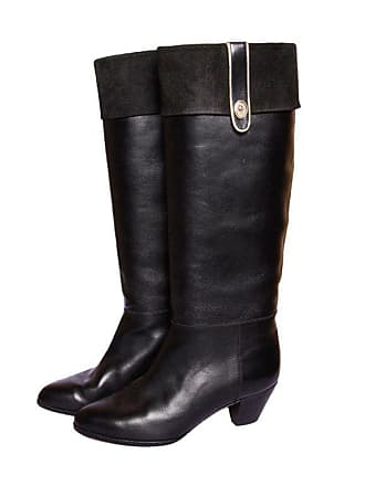 e351c1373ff Dior Vintage Christian Dior Black Leather Riding Boots Size 5