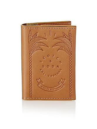 Scotch & Soda Embossed leather card holder