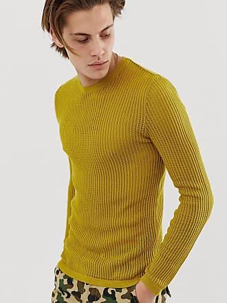 pull moulant rayures jaunes et rouges