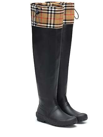 Burberry Check and rubber boots