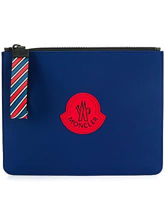 Moncler Clutch com logo - Azul