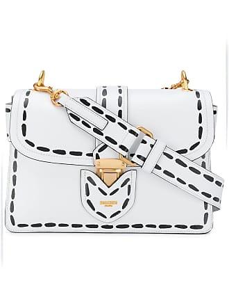 Moschino printed stitching shoulder bag - White