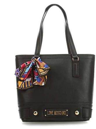 77fa2916a7c53 Love Moschino Lettering Handtasche schwarz