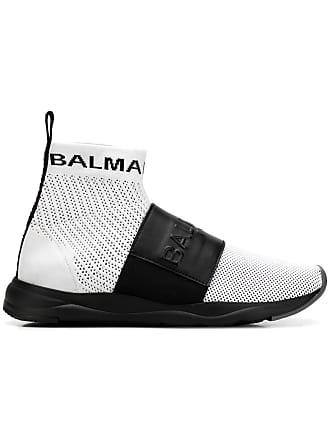 Balmain strap running sneakers - White