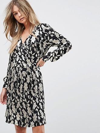 Vero Moda metallic print wrap midi dress - Multi
