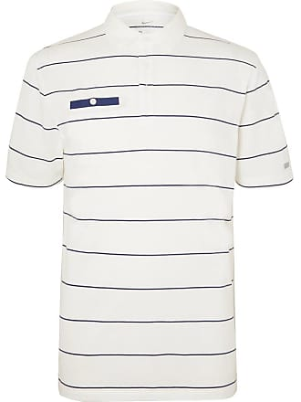 finest selection c9ad2 69917 Nike Player Striped Dri-fit Golf Polo Shirt - White