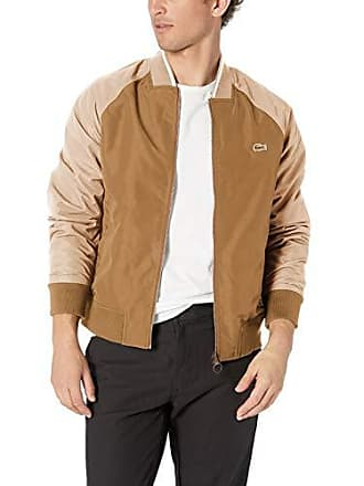 Lacoste Mens Lightweight Bomber Reversible Twill Cotton, Dark Kraft Viennese, XX-Large
