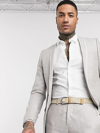 Twisted Tailor TALL - Giacca da abito slim grigio pietra