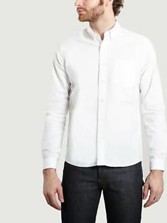Ami Weißes Oxford-Hemd mit Knopfleiste aus Baumwolle - cotton | white | 38 - White/White