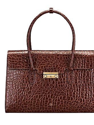 Maxwell Scott Maxwell Scott - Luxury Womens Mock Croc Leather Laptop Business Bag