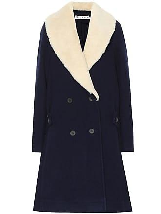 J.W.Anderson Shearling-collar wool coat