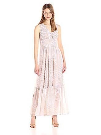 bfcbf4d4c74 Calvin Klein Womens V-Neck Chiffon Printed Maxi Dress