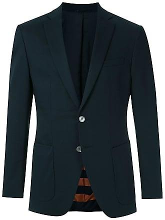 HUGO BOSS Blazer com bolsos - Azul