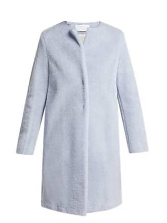Harris Wharf London Single Breasted Wool Blend Coat - Womens - Light Blue