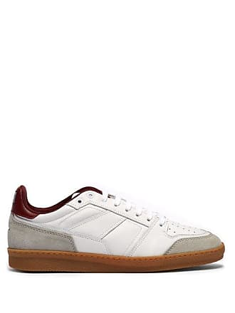 Ami Ami - Basket Leather And Suede Low Top Trainers - Mens - Red White