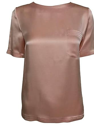 9dedec9a7d49f7 Chanel Vintage Chanel Classic Pale Pink Silk Satin Short Sleeve Blouse 1970s