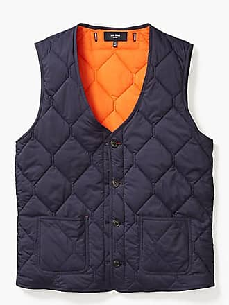 Kate Spade New York Quilted 3-in-1 Button Out Vest, Navy/Orange - Size XS