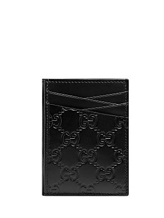 095b12f3e6f2 Gucci Mens GG Signature Leather Card Case