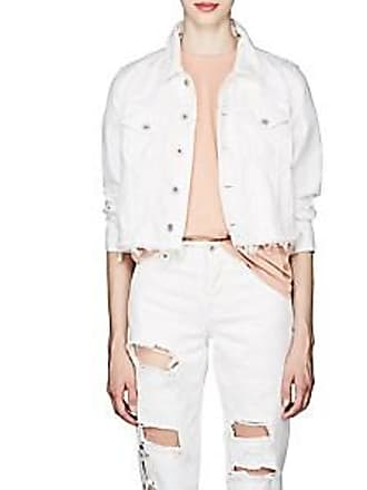 5b005e566cdf Off-white Womens Floral-Embroidered Denim Trucker Jacket - Cream Size 44 FR