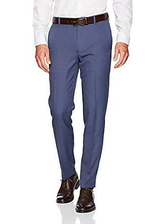 Van Heusen Mens Traveler Slim Fit Pant, Ash Navy, 32W X 30L
