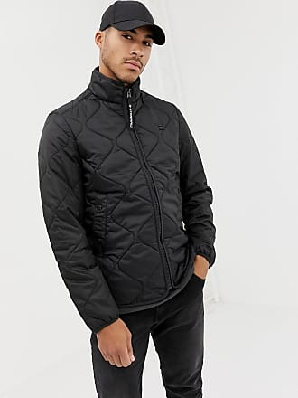 G-Star Edla ripstop quilted jacket in black - Black