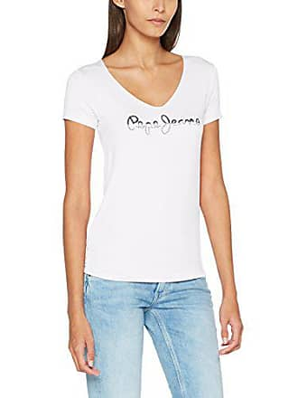 3f50e63b0d0 Pepe Jeans London BOBIE T-Shirt Femme Blanc (Off White) Small (Taille