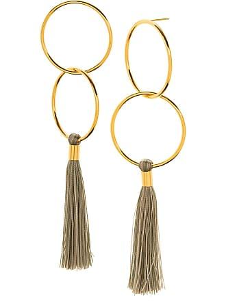 Gorjana Carmen 18K Gold Plated Double Hoop & Tassel Drop Earrings