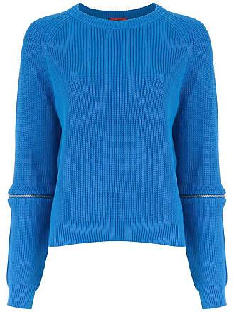 HUGO BOSS Blusa de tricô com zíper - Azul